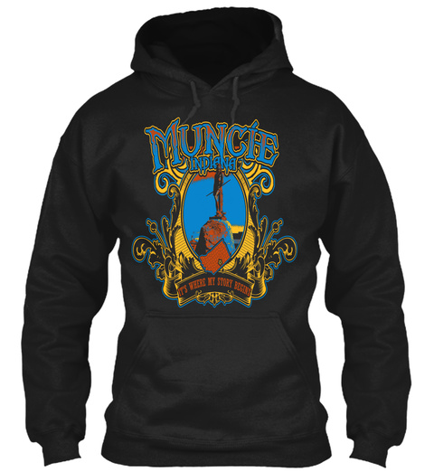 Muncie Indiana It's Where My Story Begins Black T-Shirt Front