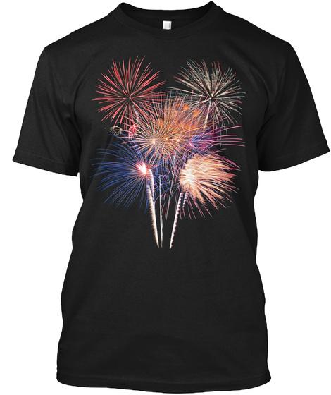 Fireworks 1 Black T-Shirt Front