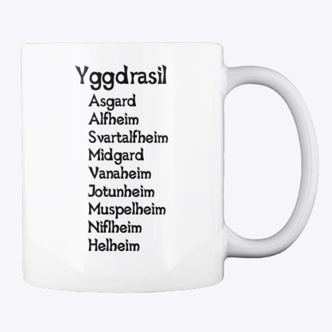 Taza Yggdrasil White T-Shirt Back