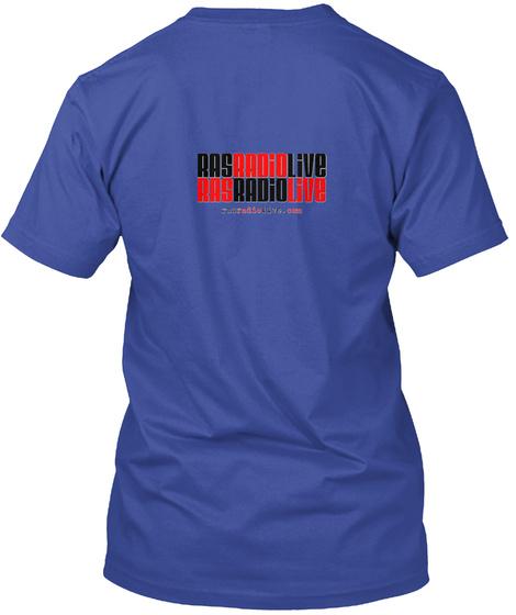 Rasradiolive Ras Radio Live Deep Royal T-Shirt Back
