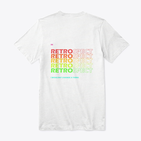 Official Retrospect Merchandise White T-Shirt Back