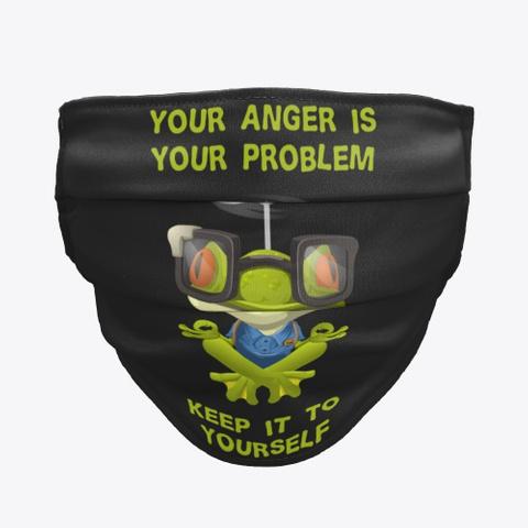 Funny Meditation Yoga Buddha Frog Mask Black T-Shirt Front