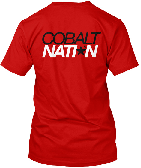 Cobalt Nation Classic Red T-Shirt Back
