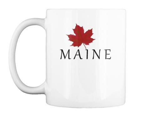Maine White Mug Front