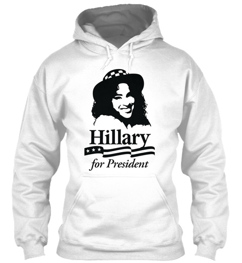 Hillary For President White T-Shirt Front