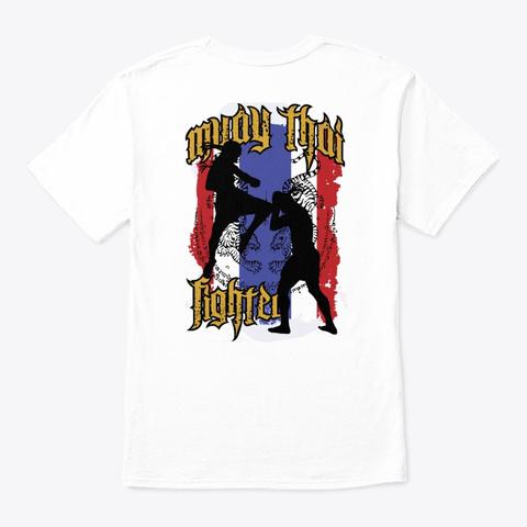 Muay Thai Tiger Fighter Shirt White T-Shirt Back