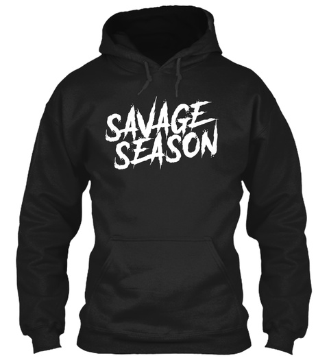 Savage Season Black T-Shirt Front