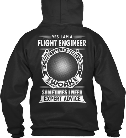Flight Engineer Jet Black T-Shirt Back