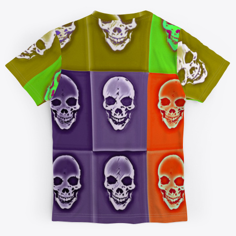 Cubist Skulls | Halloween |  90's Theme Standard T-Shirt Back