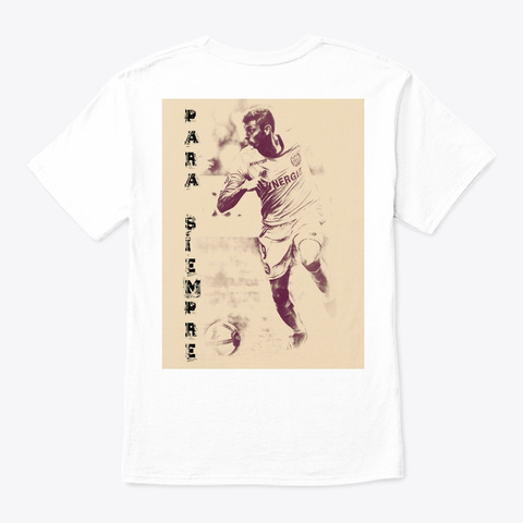 Emiliano Soccer White T-Shirt Back