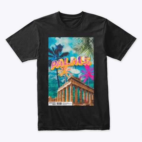 Summer Palms Black T-Shirt Front