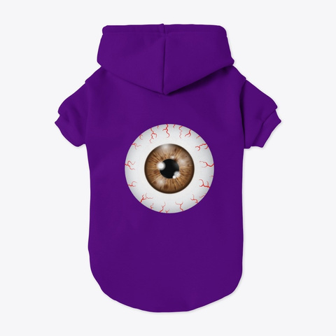 Eyeball  Purple T-Shirt Back