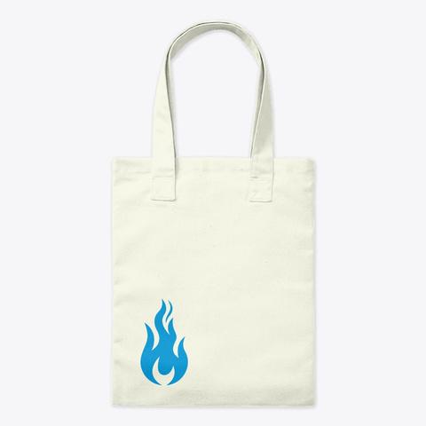 Blue Flame Tote Bag Natural T-Shirt Front