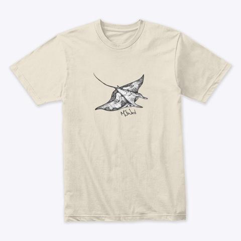 Manta Ray Tribal T Shirt Cream T-Shirt Front