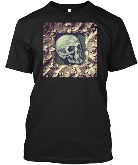 Fine Art Skull T Shirt Black T-Shirt Front