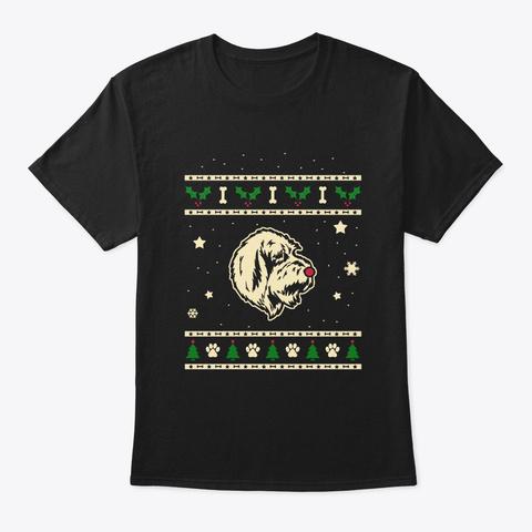 Christmas Grand Basset Griffon Vendeen Black T-Shirt Front