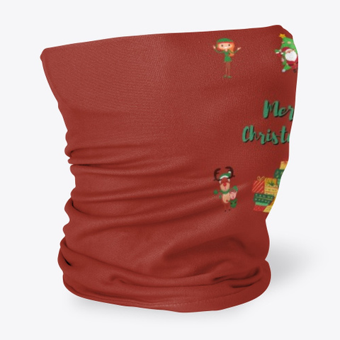 Elves And Reindeer Misfits Of Christmas Dark Red T-Shirt Side