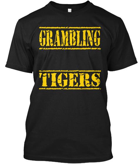 Grambling Tigers Black T-Shirt Front