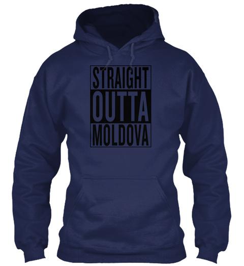 Moldova Navy T-Shirt Front