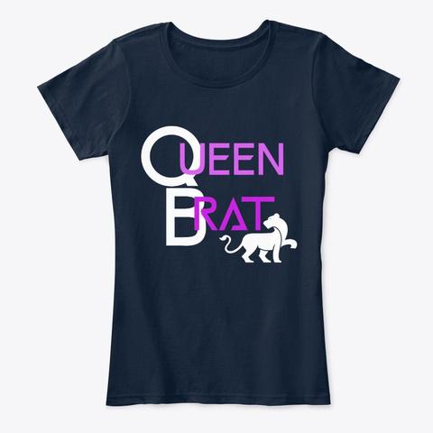 Queen Brat New Navy T-Shirt Front
