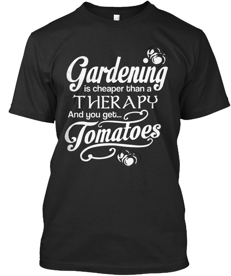 Tomatoes Black T-Shirt Front