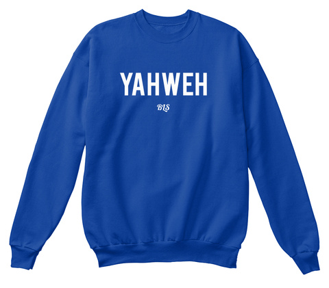 Yahweh Bls Royal Blue T-Shirt Front