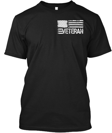 Afghanistan Veteran   Limited Edition Black T-Shirt Front
