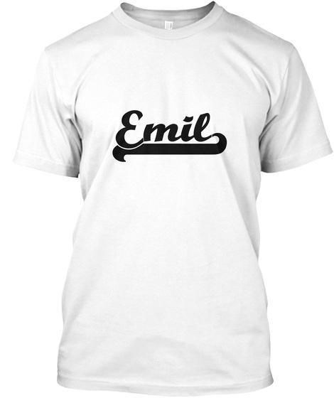 Emil White T-Shirt Front
