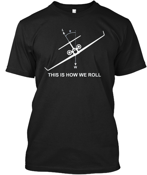 This Is How Pilots Roll Pilots Shirt Black T-Shirt Front