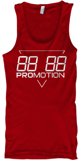 Promotion Premium Tank Red T-Shirt Front
