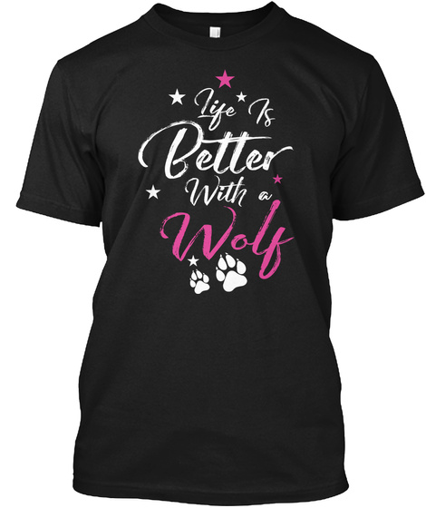 Donation   Best Wolf Tshirts Black T-Shirt Front