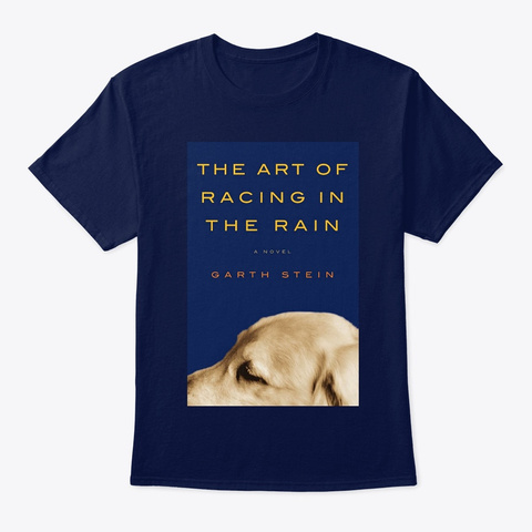 The Art Of Racing In The Rain T Shirt Navy T-Shirt Front