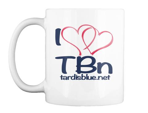 I T Bn Tardisblue.Net White T-Shirt Front