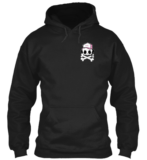 Daughters Of Asphalt Utah Tee/Hood Black T-Shirt Front