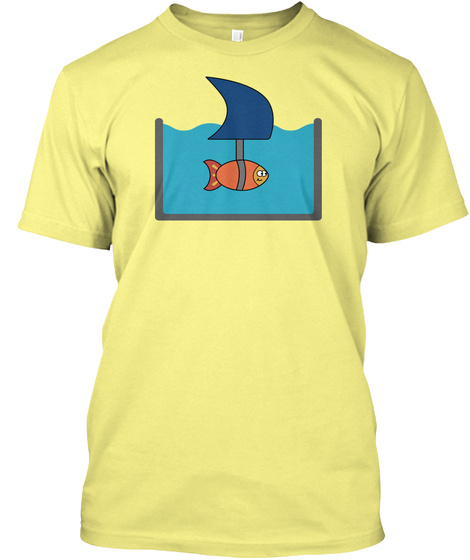 Shark Fish Lemon Yellow  T-Shirt Front