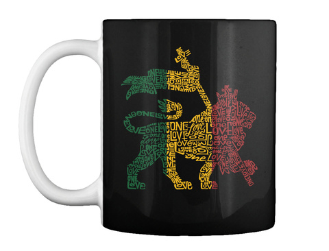 One Love Black Mug Front