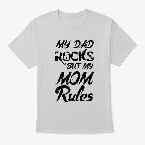 Rock Dad T Shirt Light Steel T-Shirt Front