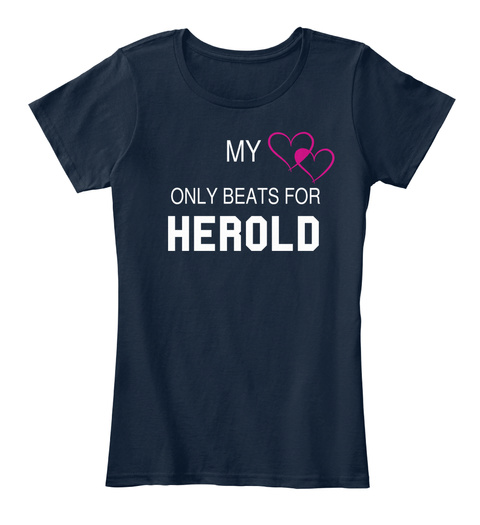 My Only Beats For Herold New Navy T-Shirt Front