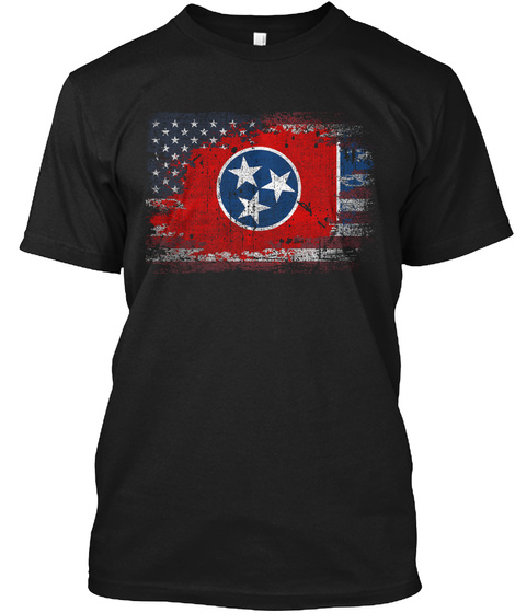 Tennessee Usa Black T-Shirt Front
