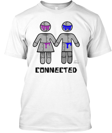 Connected White T-Shirt Front