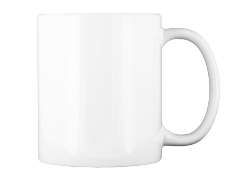 Cup Of Courage White Mug Back