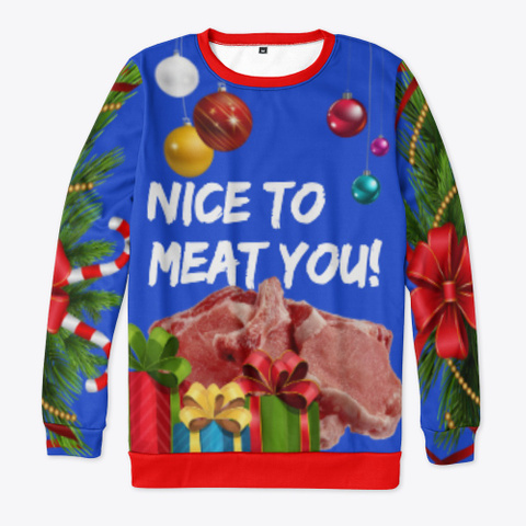 Nice To Meat You! Royal Blue T-Shirt Front