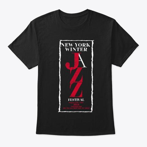 New York Jazz Festival 2014. Vintage.  Black T-Shirt Front