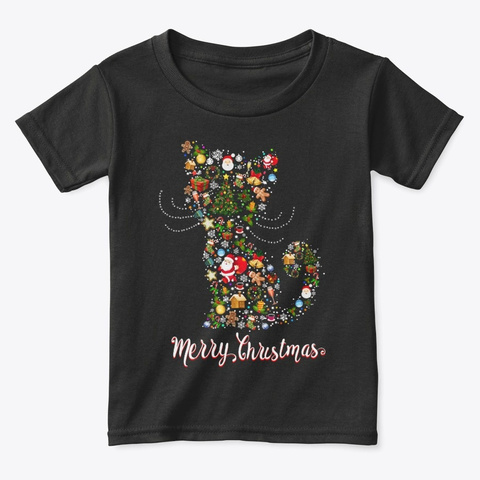 Christmas In Cat Lover T Shirt 2020 Black T-Shirt Front