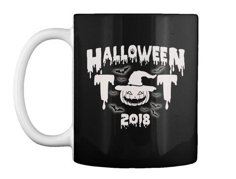 Halloween Mug Gift | Halloween Ghost Mug Black T-Shirt Front