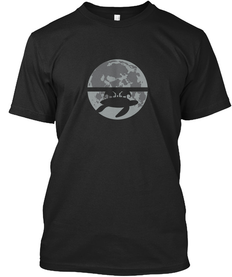 Flat Earth Eclipse 1 [Int] #Sfsf Black T-Shirt Front