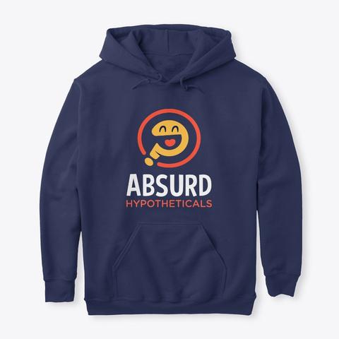Absurd Hypotheticals Hoodie Navy T-Shirt Front