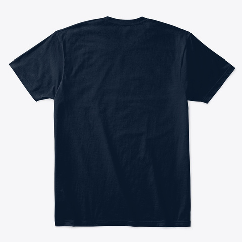 Square Orange Zero One New Navy T-Shirt Back