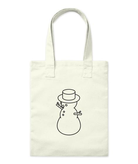Snowman Tote Bag Natural Camiseta Front
