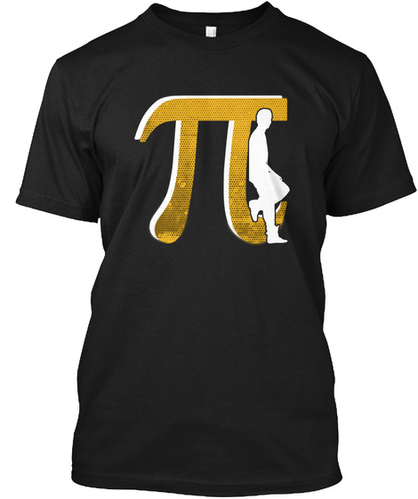 Pi Day Alone, Irrational Partying Black T-Shirt Front